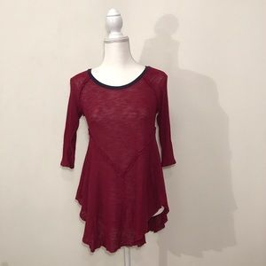Free People Intimately Top Red Black Size Small